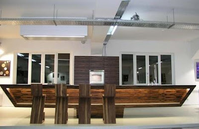 Modern Furniture: Stylish Modern Wood-and-Steel Kitchen Design Idea