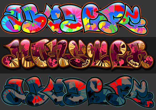 letras de graffiti. letras de graffiti.