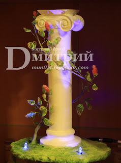 колонна, лиана, column, композиция, ночной светильник, бисерное дерево, бисер, бонсай, bead, tree