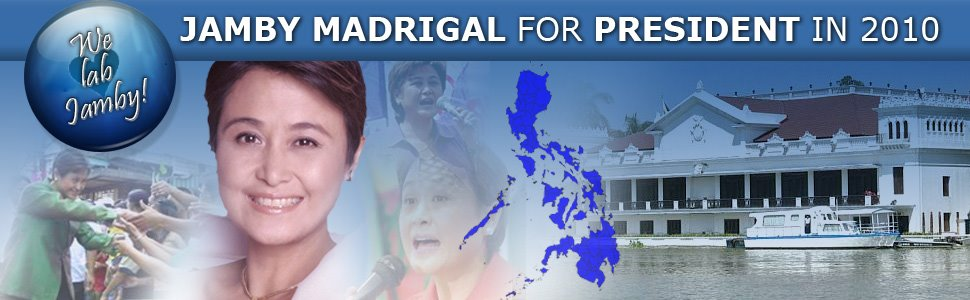 Jamby Madrigal for President in 2010 - by Rain Barnido