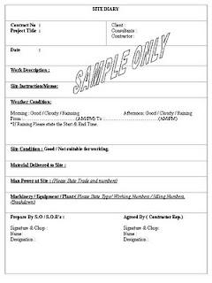 construction site instruction template