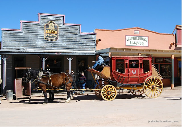 Replica stagecoach at Tombstone, Arizona