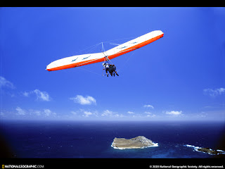 Hang glider at Waimanalo, Hawaii