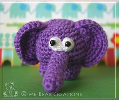 amigurumi, crochet, softie, homemade, zelfgemaakt, knuffel, gehaakt, haken, elephant, olifant, winston, purple, paars