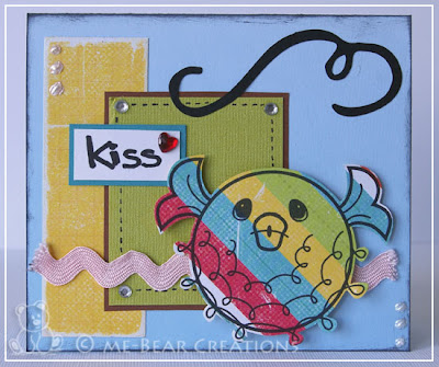 scrapbook, card, scrapcard, get sketchy, sketch, kiss, colorful, kaart, scrapkaart, homemade, zelfgemaakt