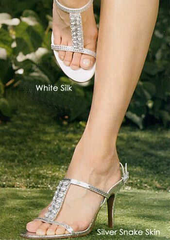 Wedding shoes bridal Silver bridal shoes for party