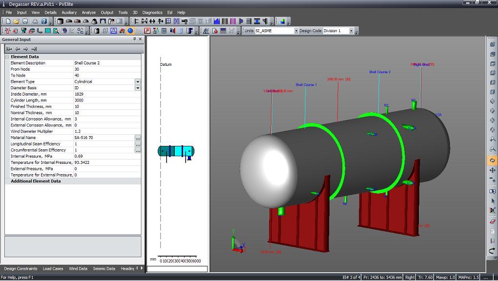 Ini adalah GUI pada PVElite 2010 dengan tampilan contoh Pressure ...