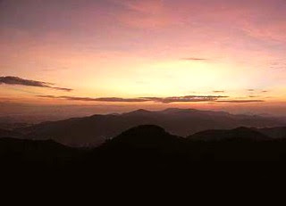 Sight to behold: Sunset from Mt Brinchang, the highest peak at Cameron Highlands.