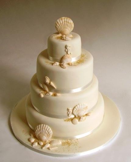 CakeChannel.com - World of Cakes: Elegant Beach Wedding Cake