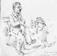 puppet olympia child-woman wolfgang glechner drawing