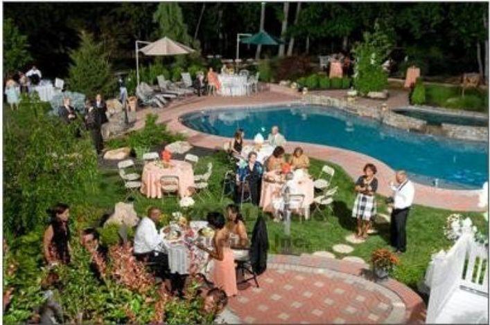 Always fabulous events philadelphia area party wedding for Garden pool wedding