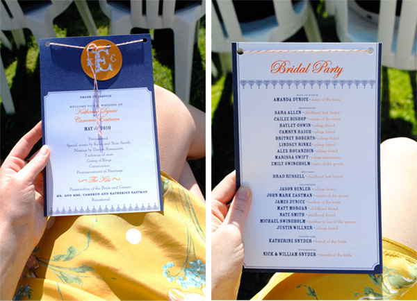 The wedding programs were probably my favorite paper item