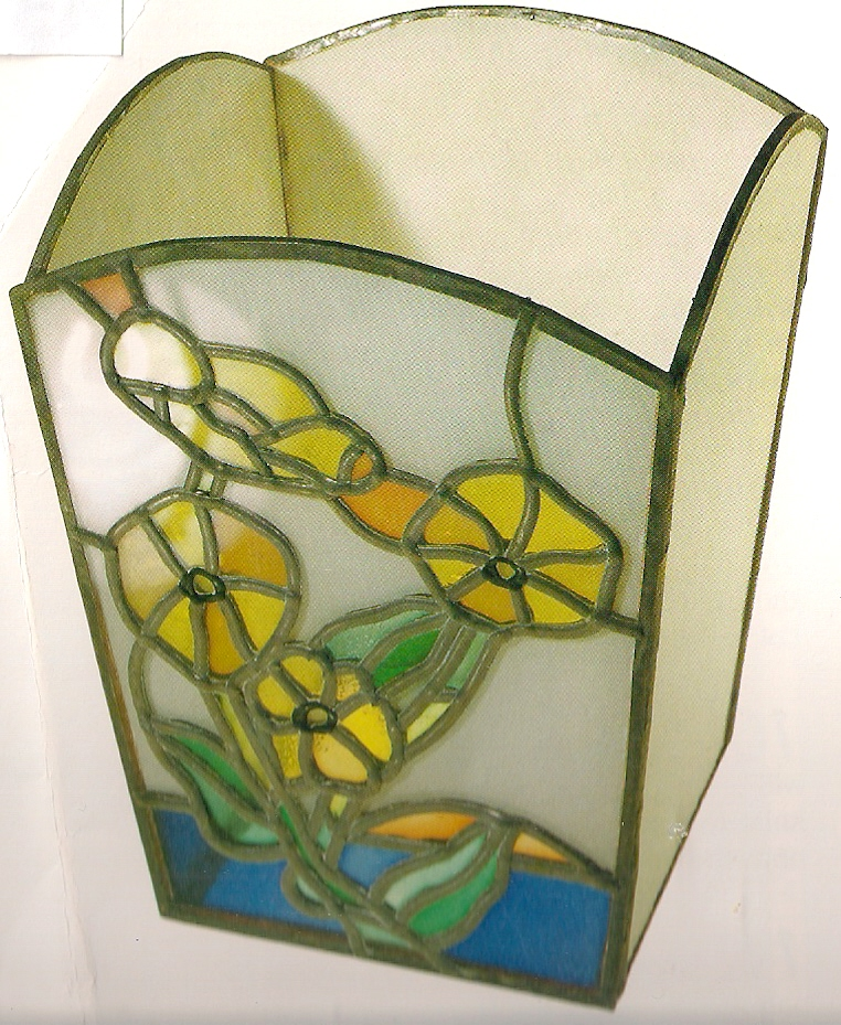 stained glass paint. with a stained glass pot