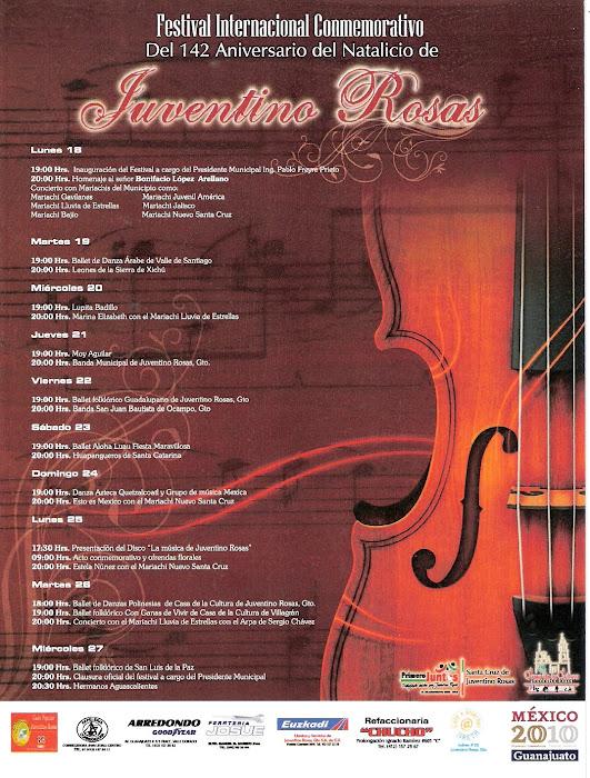 Programa conmemorativo año 2010