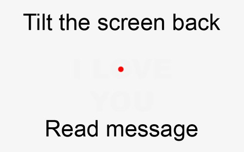 DAVID DUST: Tilt Screen Back to View Message...