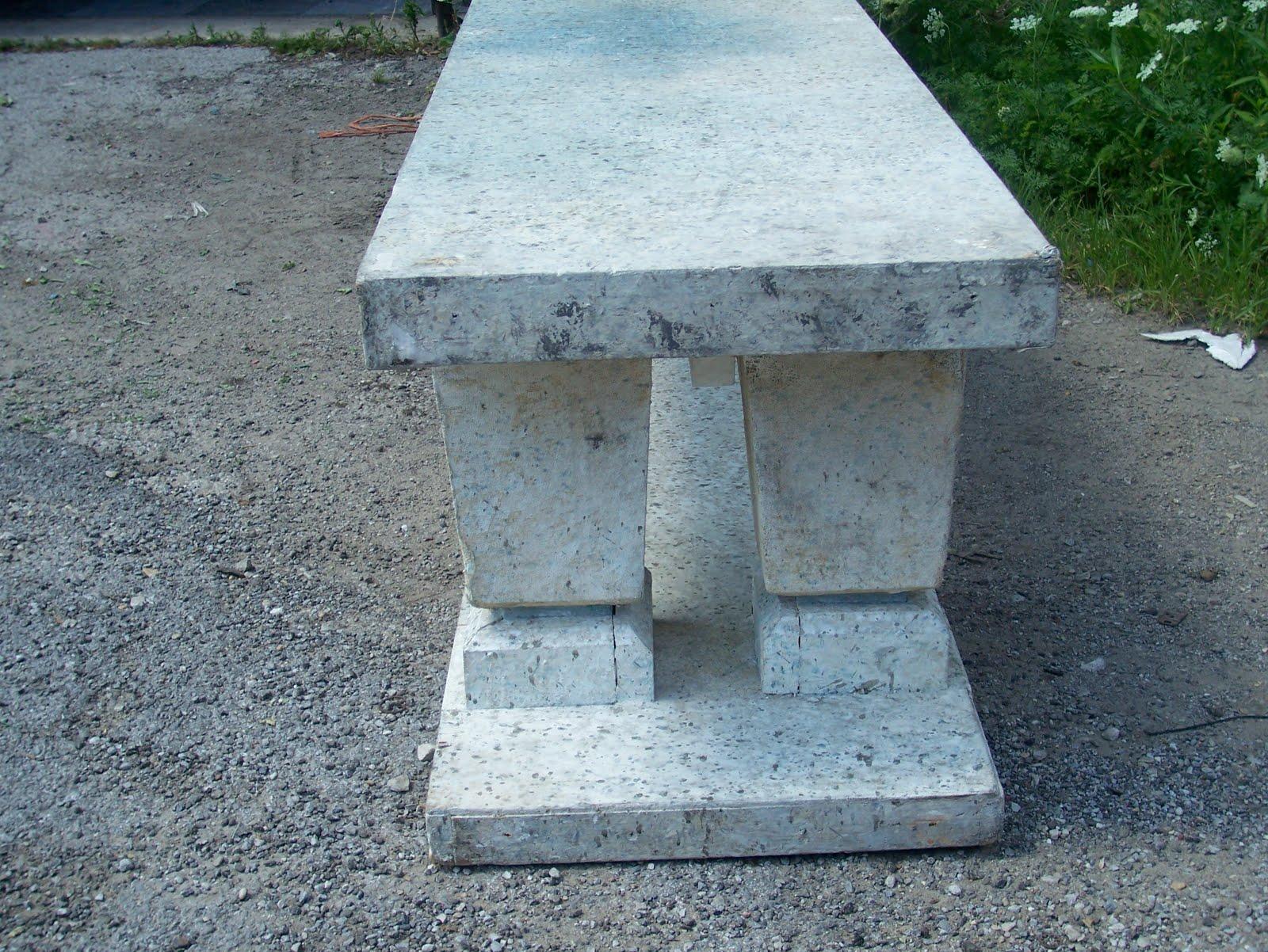 Propabilites Inc Faux Concrete Garden Bench