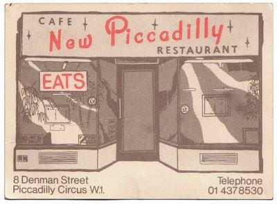 new piccadilly cafe card