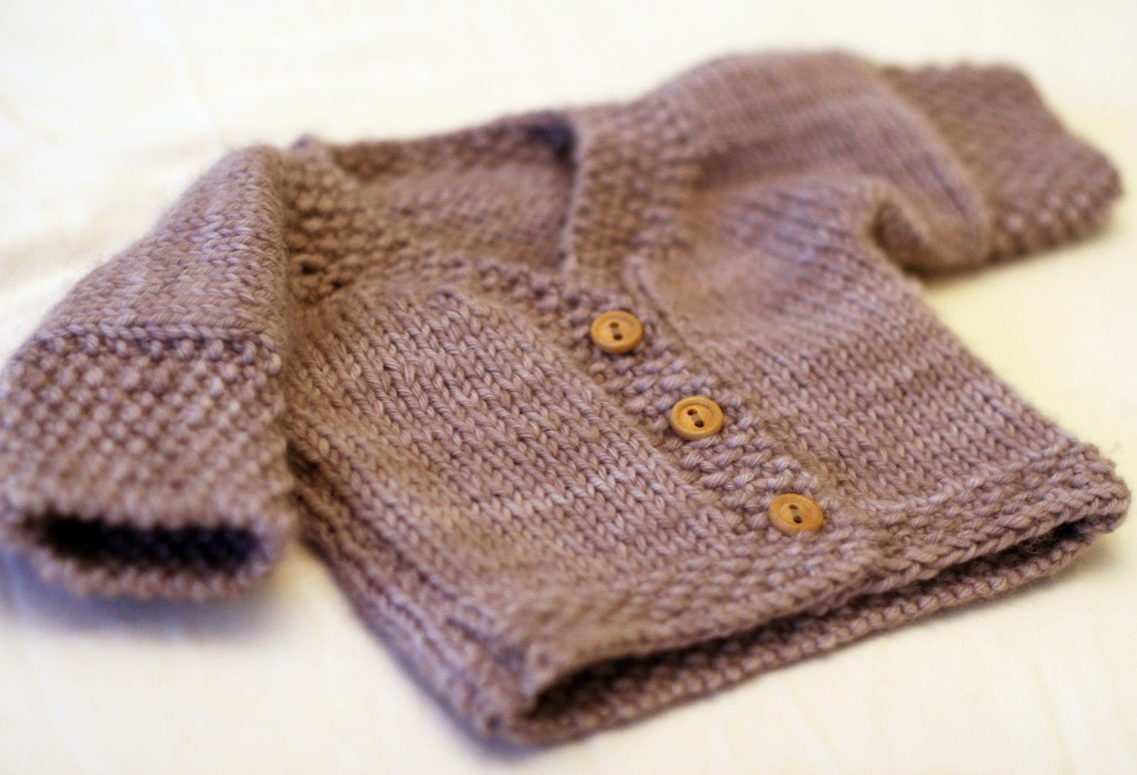 One Piece Sweater Knitting Pattern : KATE PRESTON HANDKNITS /BLOG: One-piece Baby Cardigan