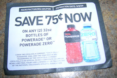 photograph relating to Printable Powerade Coupons identified as Conserving with Sara: .75/2 Powerade Tear Pad Coupon