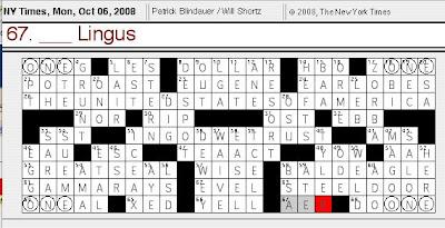 Antedating crossword