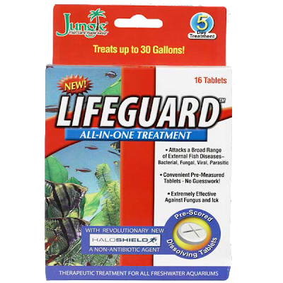 Lifeguard Freshwater Fish Medication For External Fish Diseases Including Bacterial, Fungal, Viral and Parasitic