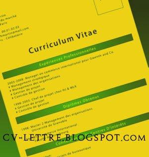 cv modele exemple