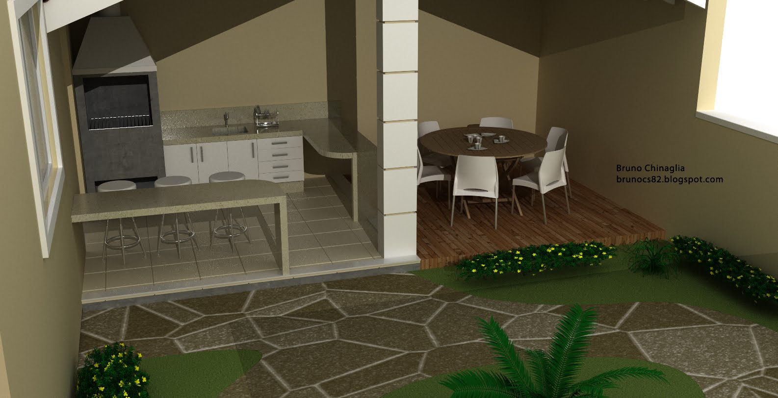 Chinaglia Design: Area de Lazer #AEB312 1586 812