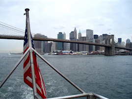 Brooklyn Bridge, Lower Manhattan from the water taxi