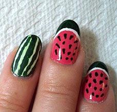Nail Art Tuesday Watermelon Nails Featuring Migi Nail Art Pens