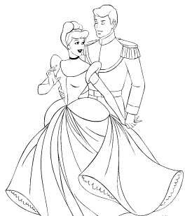 Online Coloring Pages on Cinderella Prince Charming Online Coloring Pages Jpg