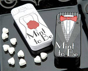Tuxedo T-Shirts Online Bride & Groom Mint Wedding Favors