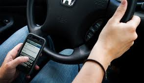 Writing SMS while driving