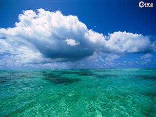 Fotografía de un mar
