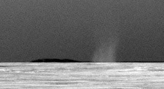 Imagen del primer remolino de polvo captado por Opportunity