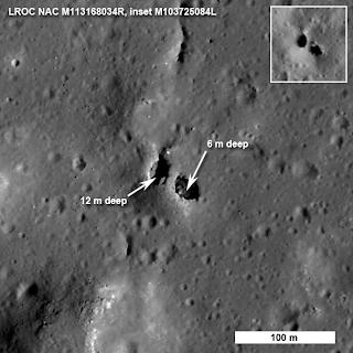 Fotografía del puente obtenida por el satélite LRO