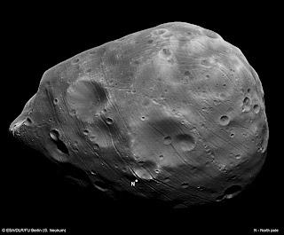 Fotografía de el satélite Fobos obtenida por la sonda Mars Express
