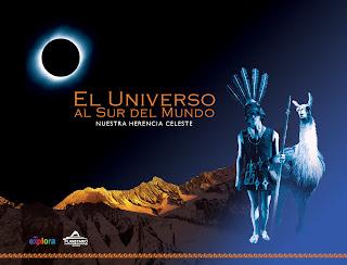 Afiche de la exposición gráfica 'El Universo al sur del Mundo: nuestra herencia celeste'