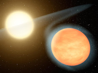 Ilustración artística del planeta WASP-12b