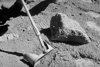 Fotografía de la superficie de la Luna