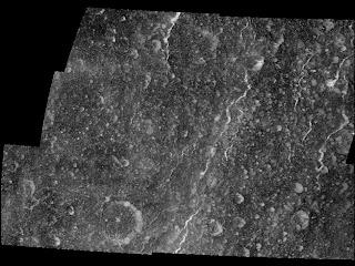 Imagen compuesta que muestra las fracturas en Rea