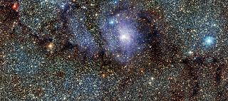 Fotografía infrarroja de la Nebulosa de la Laguna