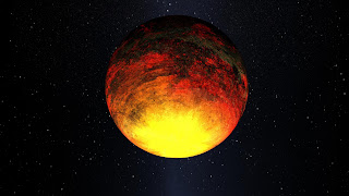 Concepto artístico del exoplaneta Kepler-10b