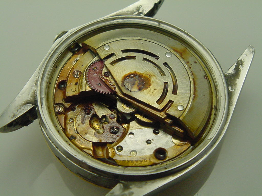 Timebuilder American Horologist April 2010 Rolex Parts Diagram For Cal 3035 1 Gent39s Datejust As It Water Damaged Movement