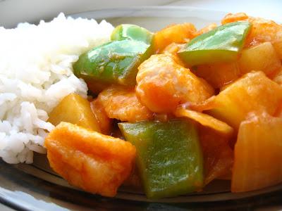 Articole culinare : Pui dulce acrisor cu ananas