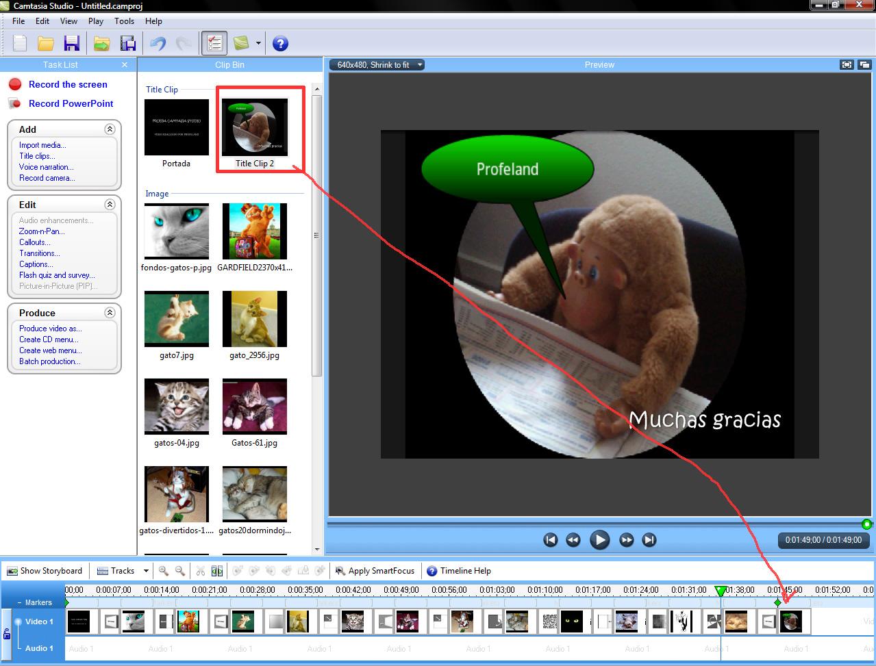 Camtasia es un programa que te permite editar vdeos de un modo