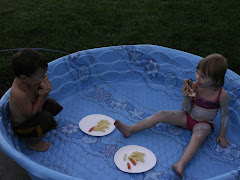 It was no surprise to us that they chose to eat in their pool instead of their table.