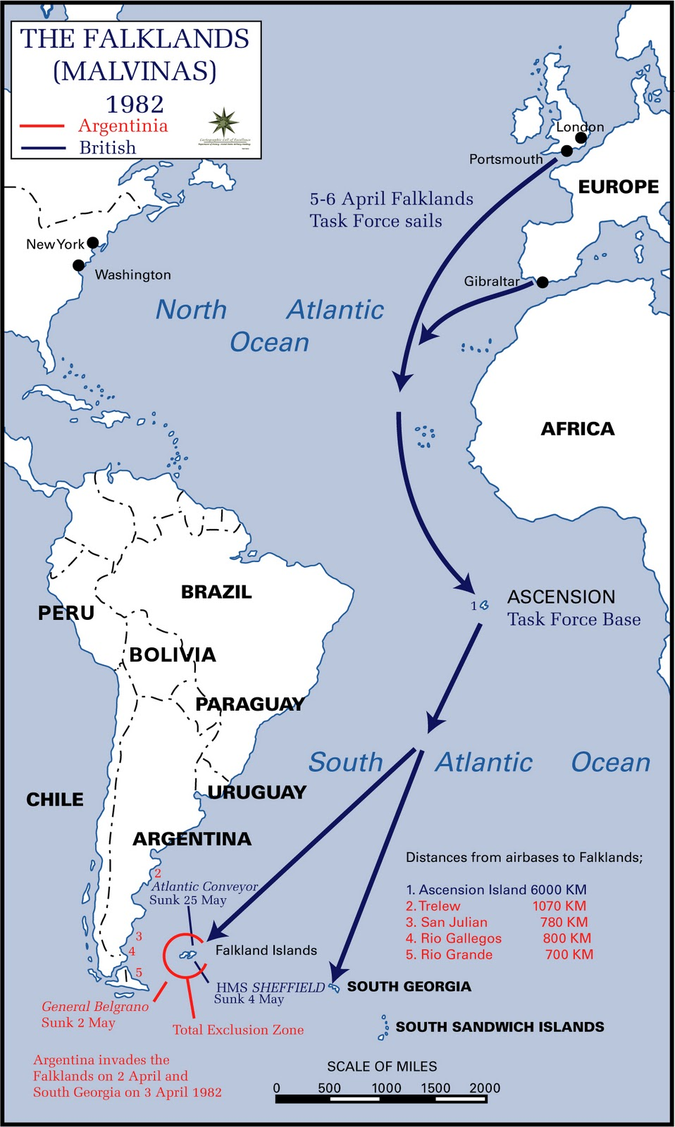 air campaign in falklands war essay This article describes the composition and actions of the argentine air forces in the falklands war (spanish language: guerra de las malvinas )  air campaign edit .
