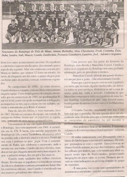 Veteranos do Botafogo em campo