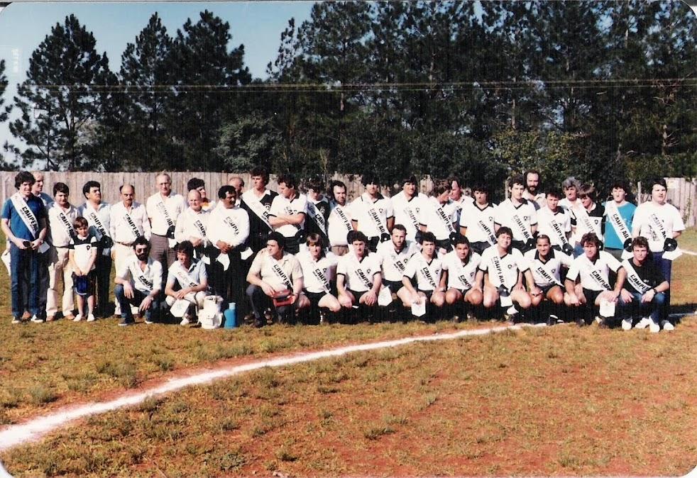 Veteranos do Botafogo - Colocação de faixas em 1986