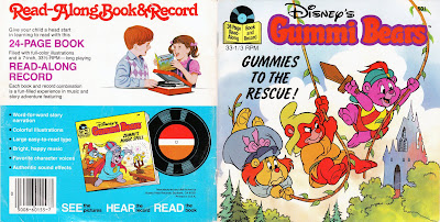 Disney's Gummi Bears record and story book